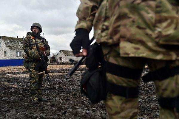 Ukraińscy żołnierze podczas walk o Debalcewo w obwodzie donieckim