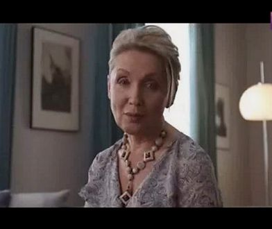 Kadr z reklamy Feminostu z udziałem Elżbiety Słobody