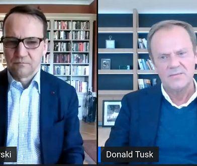 Radosław Sikorski i Donald Tusk rozmawiali o działaniach UE ws. koronawirusa