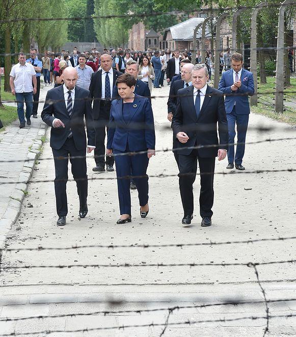 Premier Beata Szydło w Auschwitz