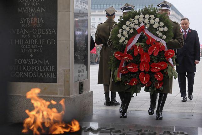 11 listopada. Uroczystości na pl. Piłsudskiego w Warszawie