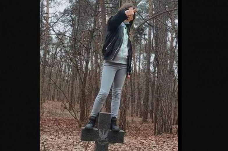 Skandal na Cmentarzu Wojskowym w Brodnicy. Policja złapała nastolatkę