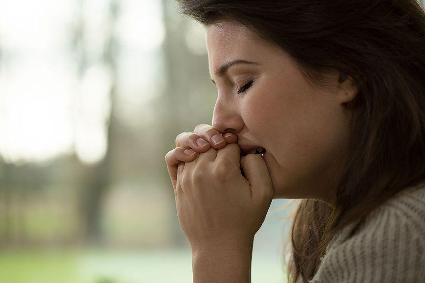 Kobieta, która choruje na depresje