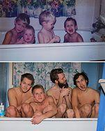 Rozbrajające! Odtwarzają zdjęcia sprzed 20 lat