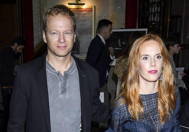 Maciej Stuhr z żoną Katarzyną