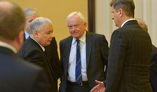 Od lewej: Jarosław Kaczyński, Leszek Miller, Janusz Palikot