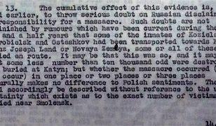Brytyjczycy znali prawdę o zbrodni katyńskiej, ukrywali ją nawet po wojnie