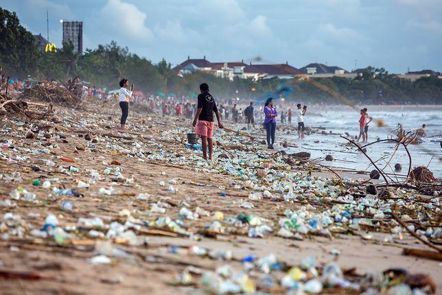 Tak wyglądała plaża Kuta beach jeszcze w 2017 roku