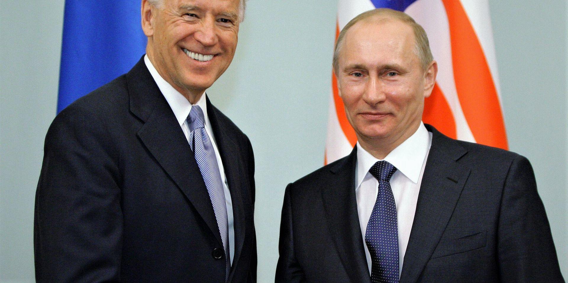 Joe Biden i Władimir Putin, 10 marca 2011 r.