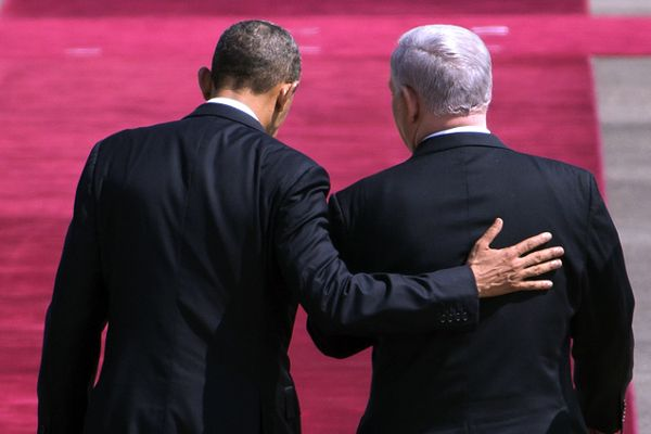 Prezydent USA Barack Obama i premier Izraela Benjamin Netanjahu