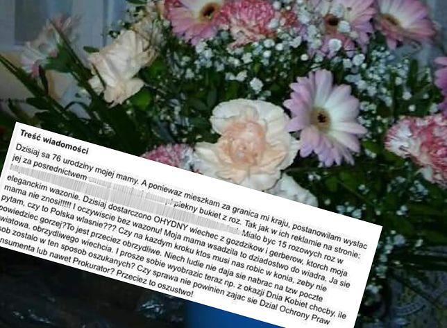 Zamówiła kwiaty dla mamy. Nie tego się spodziewała