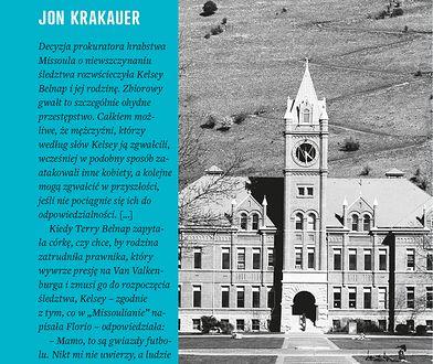 Krakauer analizuje i obnaża tricki, jakie stosują sprawcy, by uchylić się od dopowiedzialności: Joanna Piotrowska, Fundacja Feminoteka.