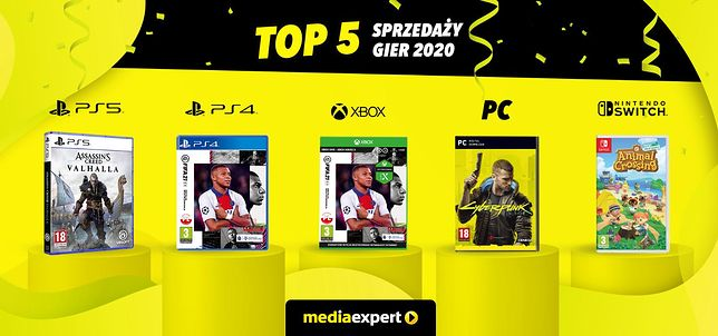 TOP5 najlepiej sprzedających się gier