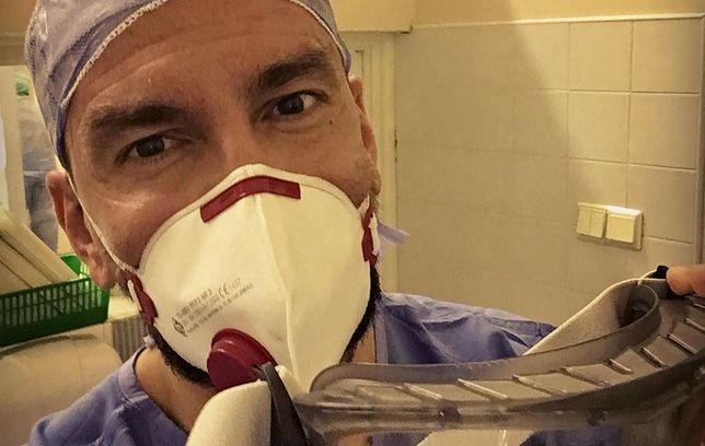 Popularny w internecie lekarz odebrał poród chorej na koronawirusa