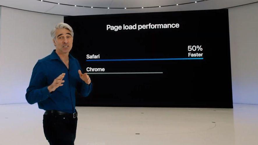 Safari jest jeszcze szybsze niż wcześniej /Fot. YouTube/Apple