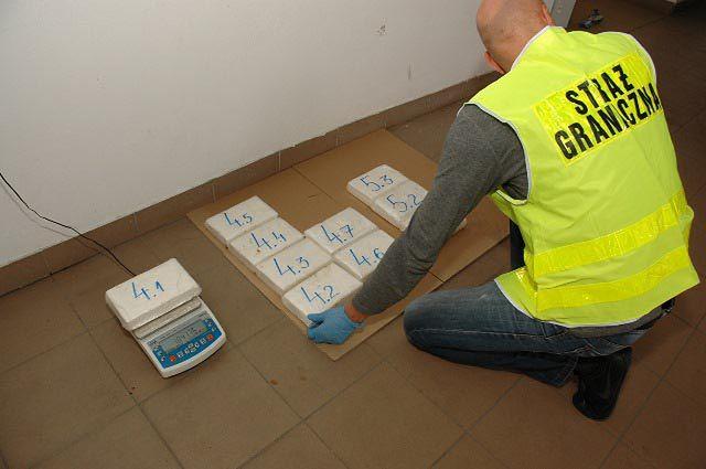 Kokaina z przemytu zatrzymana przez strażników