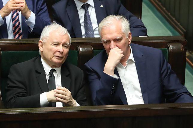Zjednoczona Prawica. Jarosław Kaczyński i Jarosław Gowin.