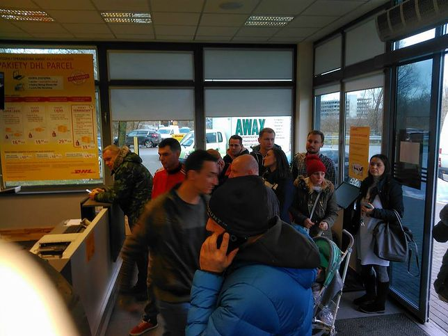 Strajk pracowników DHL. Nasz reporter był na miejscu