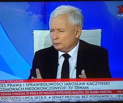 Jarosław Kaczyński w TV Trwam i TVP Info