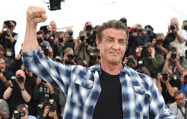 Sylvester Stallone na festiwalu w Cannes, 2019
