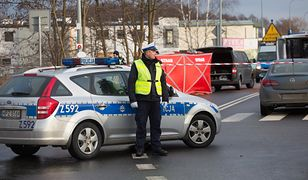 Policjant na miejscu tragicznego wypadku drogowego