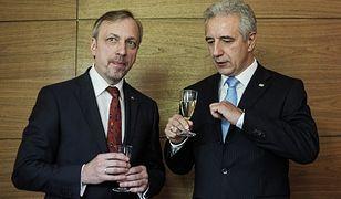 Premier Wolnego Kraju Saksonii Stanislaw Tillich i  Bogdan Zdrojewski