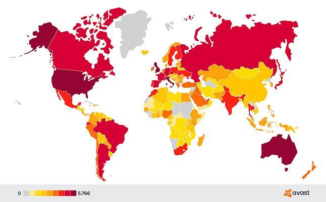 Polska jest wśród krajów z wysoką liczbą ataków typu sextortion, fot. Avast.