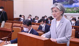 Korea Północna. Kim Dzong Un poszukiwany. Korea Południowa twierdzi, że wie, gdzie przebywa dyktator. Na zdjęciu szefowa MSZ, Kang Kyung-wha.