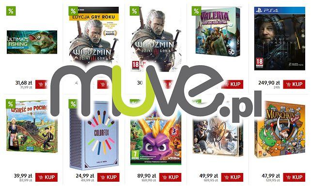 W muve.pl na Black Friday 2019 ponad 1000 promocyjnych cen gier wideo, a do tego planszówki, gadżety, sprzęt czy ubrania