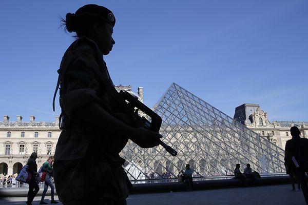 Wzmocnione siły bezpieczeństwa w Paryżu, po nalotach w Syrii i Iraku (na zdj. Luwr)