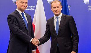 Donald Tusk i Andrzej Duda jak bliźniacy. Wszystko przez niebieski krawat