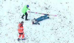 Piotr Żyła podczas skoku w Wiśle upadł na twarz