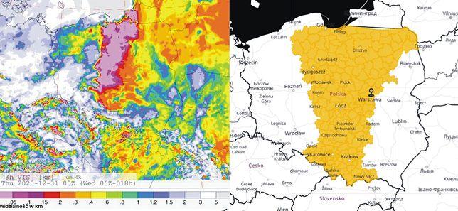 Pogoda - sylwester 2020. Ostrzeżenia IMGW aż w 11 województwach