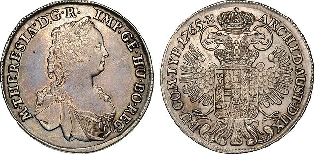 Najdużej funkcjonująca moneta w historii ludzkości. Srebrny talar Marii Teresy.