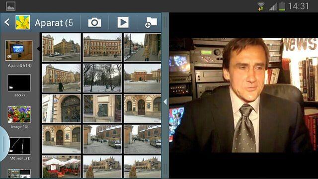 Multi Window poziomo (Galeria + YouTube)