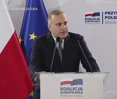 """Grzegorz Schetyna na konwencji KE. """"Kolaboranci i Wehrmacht"""""""