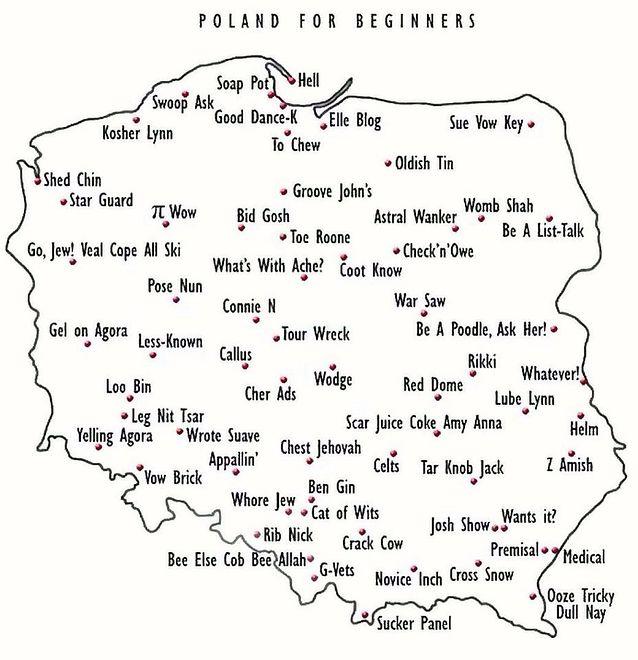 """""""Polska dla początkujących"""". Jak nauczyć obcokrajowców czytać polskie miasta?"""