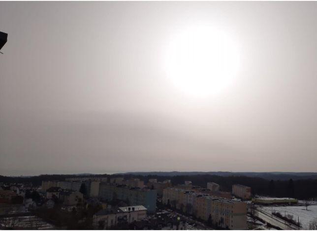 Widok znad Trójmiasta w kierunku Zatoki Gdańskiej (23.02.2021)