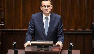 Premier Mateusz Morawiecki zwrócił się do Sejmu o wotum zaufania