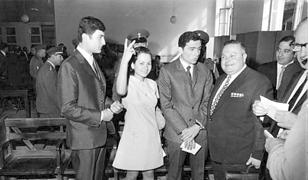 Lajla Chalid po uwolnieniu w 1970 r.