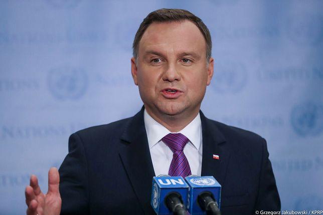 Prezydent Andrzej Duda nie zabrał głosu ws. konfliktu rosyjsko-ukraińskiego i incydentu w Cieśninie Kerczeńskiej. Na zdjęciu w siedzibie ONZ we wrześniu 2018 r.