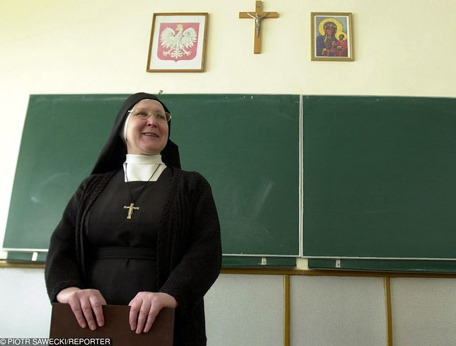 Lekcje religii w liceum w Białymstoku.