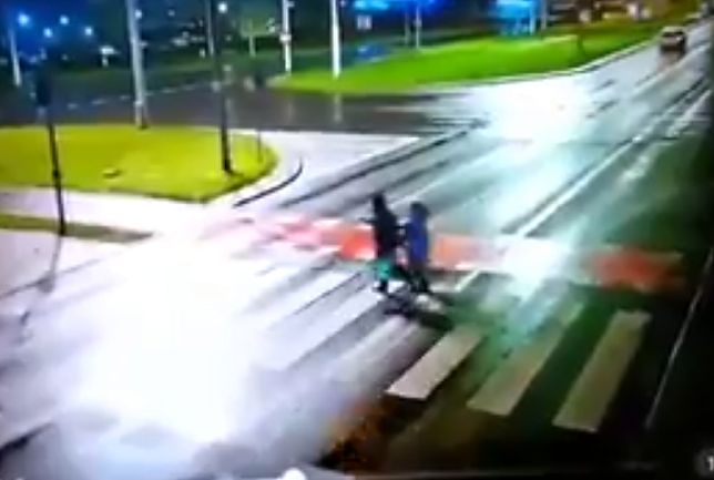 Wypadek w Toruniu. Pojawiło się drastyczne wideo z monitoringu