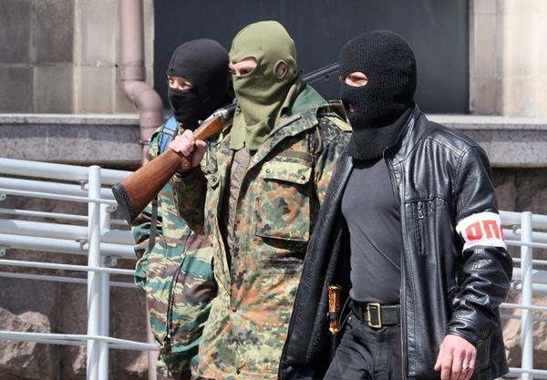 Prorosyjskie siły w Doniecku