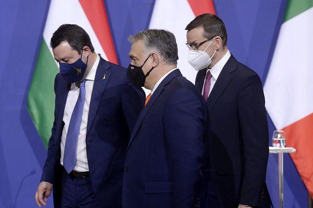 Budapeszt. Spotkanie Morawieckiego z Orbanem i Salvinim