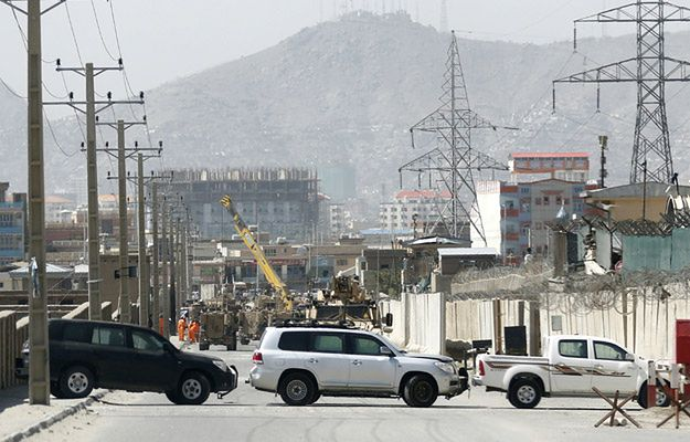 Ulica, przy której znajduje się akademia policyjna w Kabulu