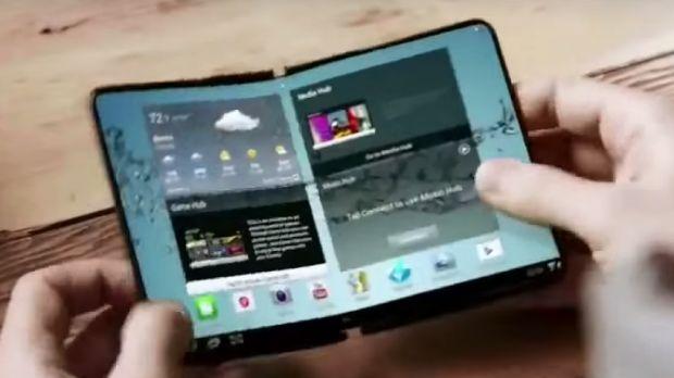 Niewyraźny render, który ma pokazywać kształt nowego telefonu