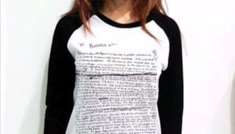 T-shirt z listem samobójczym Kurta Cobaina