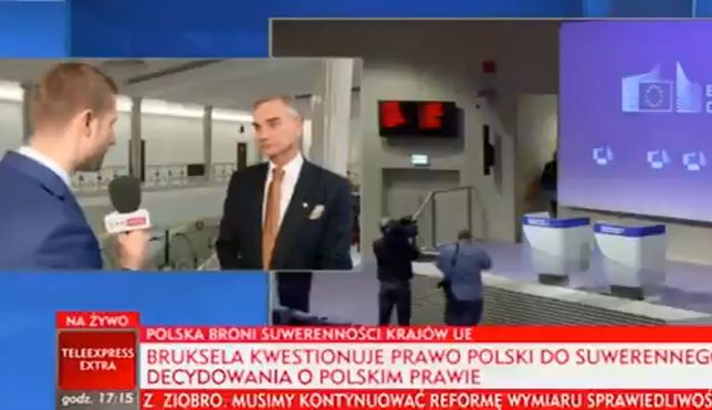 Reporter TVP Info zamienił pytanie w swój długi monolog