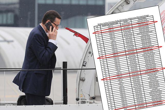 Według KPRM, w dniu miesięcznicy na Wawelu premier Mateusz Morawiecki latał 16 razy do Krakowa
